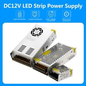 Image 2 - امدادات الطاقة DC12V 1A 2A 5A 8.3A 10A 15A 16.7A 20A 25A 30A 33A 40A 50A محولات الإضاءة LED سائق ل LED قطاع التبديل