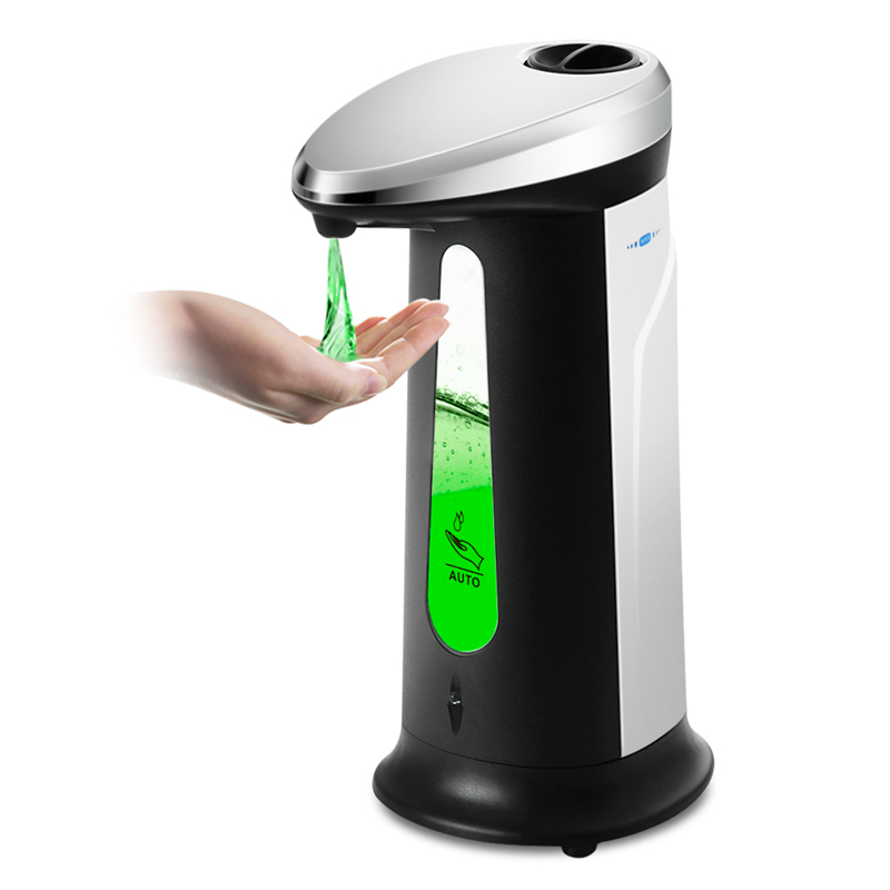 400Ml Automatic Liquid Soap Dispenser Smart Sensor Touchless ABS Electroplated Sanitizer Dispensador for Kitchen Bathroom image