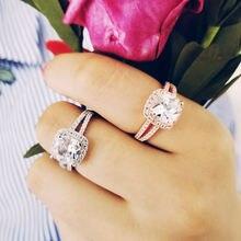 Женское кольцо для помолвки из серебра 925 пробы