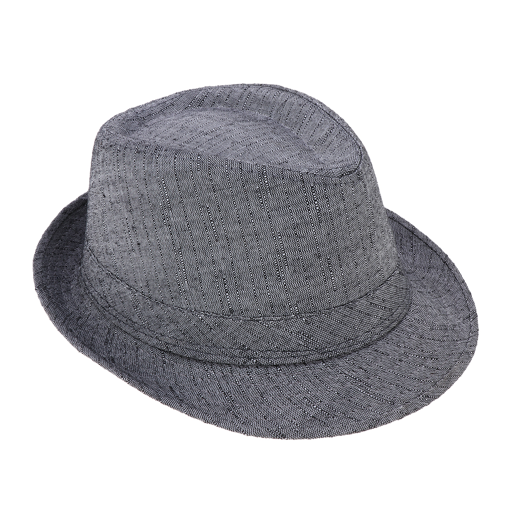 Classic Manhattan Structured Gangster Trilby Fabric Fedora Hat