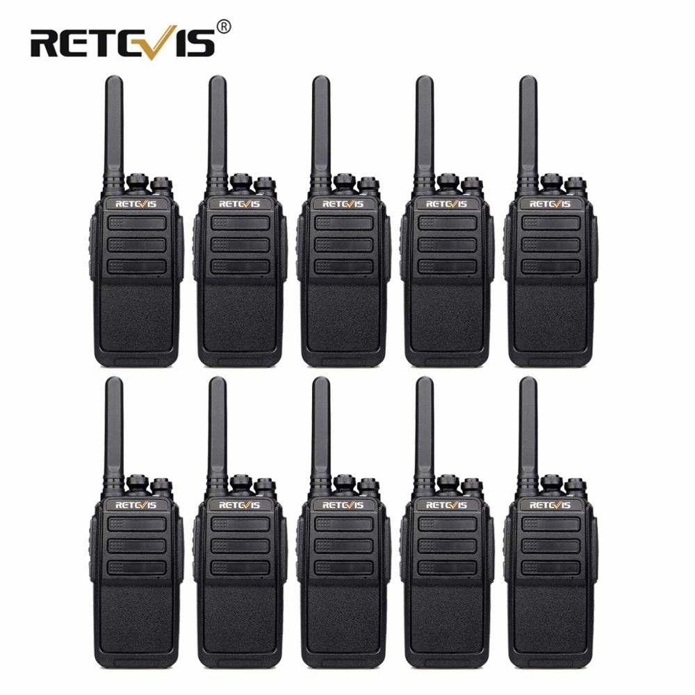 10 Ps RETEVIS RT28 Portable Walkie Talkie VOX Hands-free CTCSS/DCS USB Charging UHF Frequency Portable 2 Way Radio Comunicador