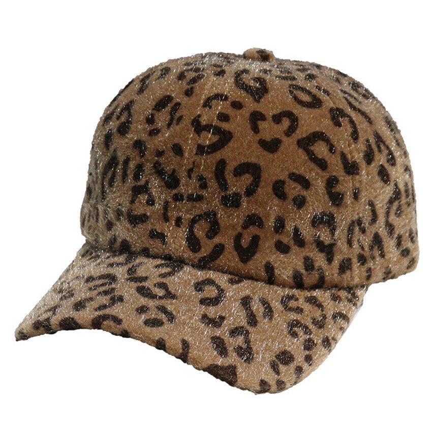 Fashion Leopard Baseball Cap Women Autumn Winter Hats Girl Hip Hop Hats Trucker Caps Sports Sun Hat Korean