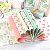 Oversized 24pcs pearl packaging paper collection Manual DIY cover paper Thick gift wrapping paper Scrapbook Craft paper