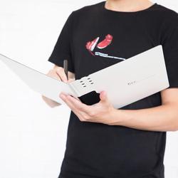 Nowy Xiaomi Fizz poziome A4 Folder matowy tekstury przenośny Pad przenośny długopis taca zagęścić teczki szkolne materiały biurowe 2