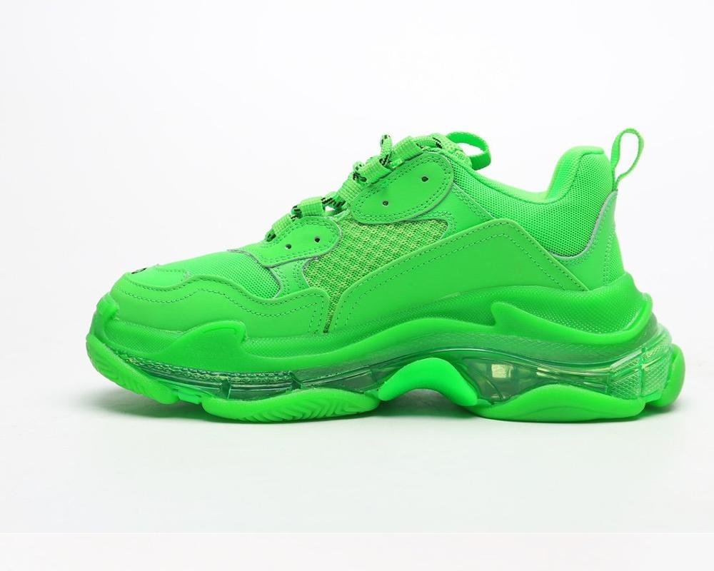 AQLOAC S4 5 4 Lightweight Sneakers Footwear Sneaker Tess S.Gomma MAILLE WHITE ORANGE Jogging Triple S Shoes Max Size 12