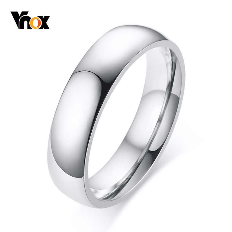 Glaze Polish Plain Stainless Steel 3mm Domed Comfort Fit Wedding Band Thumb Ring