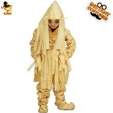 DSPLAY Хэллоуин Карнавальный маскарадный костюм для детей косплей зомби мумия одежда Детский модный костюм зомби