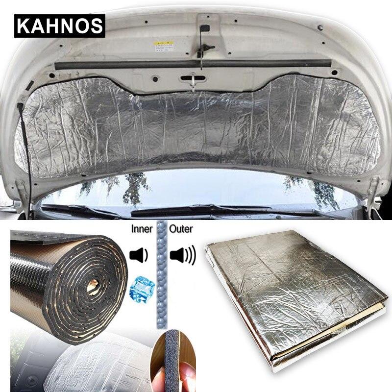 1X1.4m autos amortiguador de sonido aislamiento del calor estera de algodón 10mm con hoja de aluminio