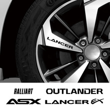 Car Wheel Rim Stickers Vinyl Film Decal for Mitsubishi Lancer EX Outlander ASX Ralliart Automobiles Decoration DIY Accessories