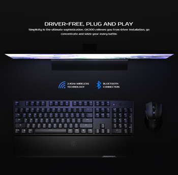 GameSir GK300 Gray Wireless Mechanical Keyboard 104 TTC Blue Switches Gaming Keyboard For PUBG FPS Games For PC/iOS/Android 4