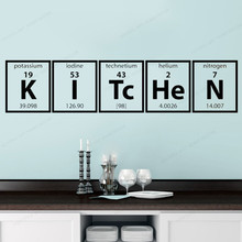 Periodic Table of Elements Wall  Vinyl Sticker Kitchen Cooking wall decal Family home wall decor JH108 day of the dead girl skull head vinyl wall decal sticker