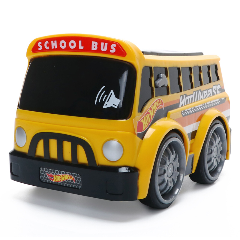 Genuine Hot Wheels Touch Car Toy Children'S Educational Electronic Police Car Fire Truck School Bus Sound And Light Toy Car Mode