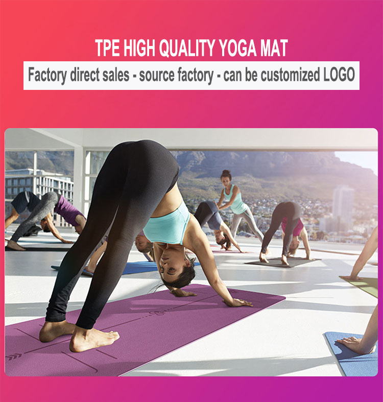 double layered yoga mat with position line (6mm), carry, yoga, strong, resilience, nbsp, long, about, 0, grams, good - Hd385210aacda420c9b5305b2507473bdR - Double layered Yoga Mat with Position Line (6mm) - Fititudestore