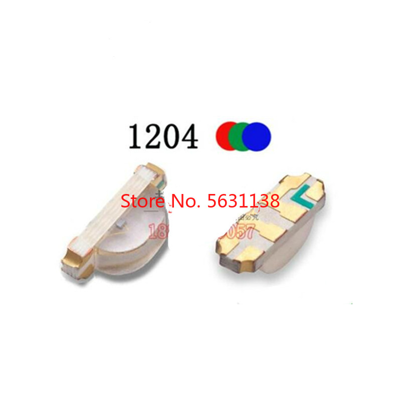 50PC 1204 SMD LED RGB Red+green+blue 3210 Full Color LEDs 1206 Common Cathode Common Anode 1615 1.8-2.0v 20mA 3.2*1.0mm Cree COB