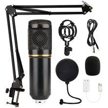 Microphone professionnel à condensateur BM 800, pour Studio, maison, enregistrement, carte son d'ordinateur