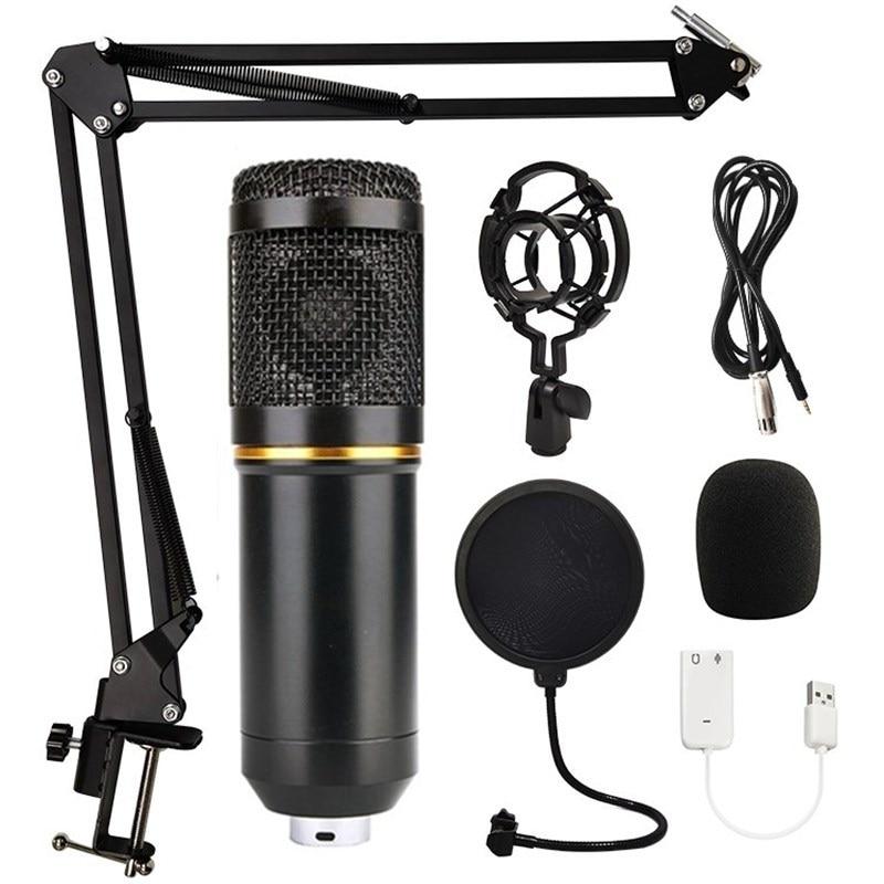 BM 800 profesjonalny mikrofon pojemnościowy zestaw BM800 nagrywanie mikrofon do komputera Karaoke KTV Studio nagrywania mikrofon