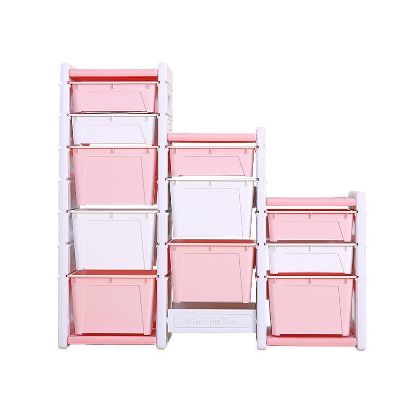 Children's Bookshelf Toy Storage Rack Organizer Rack Storage Cabinet Kindergarten Locker Large Capacity