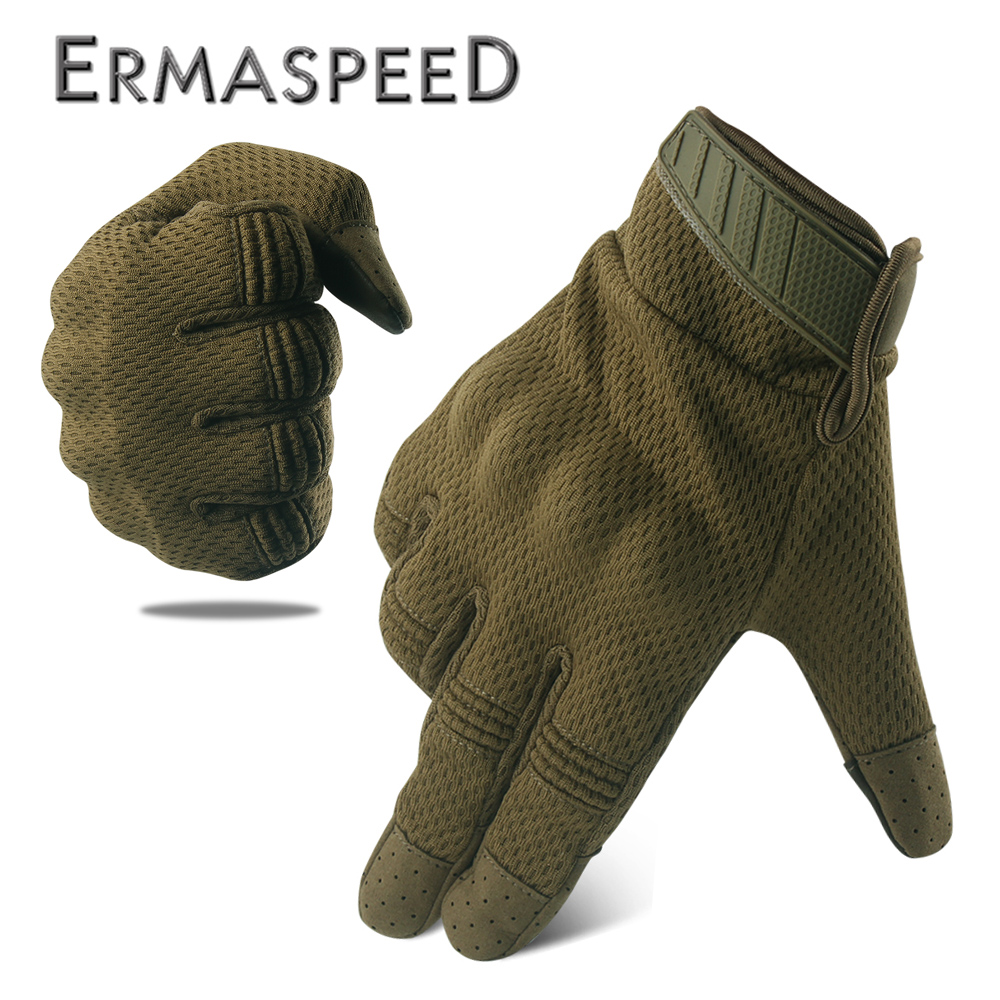 Image 1 - Breathable Motorcycle Gloves Tactical Military Racing Riding Gloves Winter Motocross Enduro ATV Touch Screen Men Biker Gloves-in Gloves from Automobiles & Motorcycles