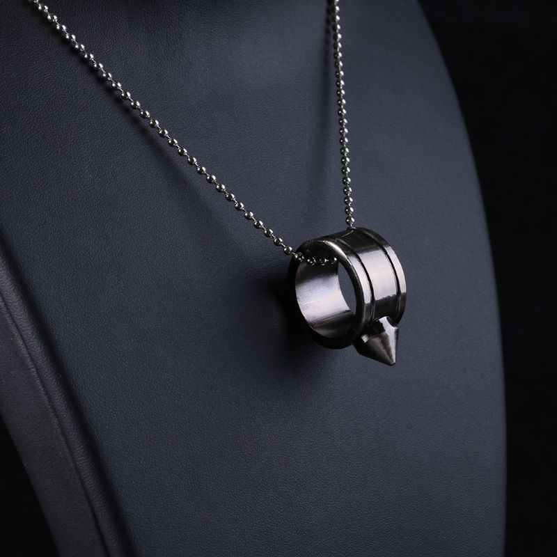 Tungsten Steel Self Defense Supplies Ring Women Men Safety Survival Finger Ring With Chain Tool H8WA