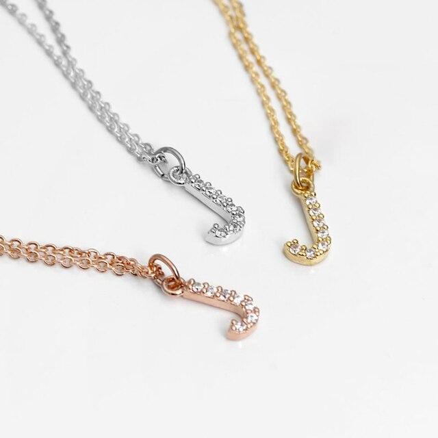 DODOAI Custom Diamond Necklace, Pave Crystal Letter Necklace,Personalized Name Necklace ,diamond letter pendant necklace Jewelry 3