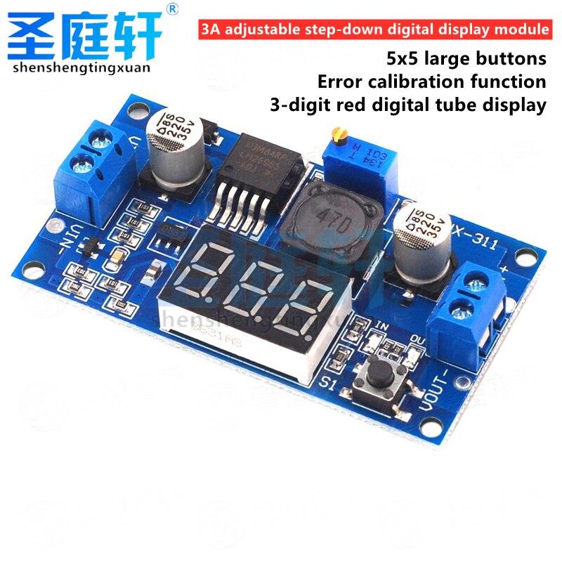 LM2596 DC convertisseur abaisseur régulateur de tension LED affichage voltmètre 4.0 ~ 40 à 1.3-37V Buck adaptateur alimentation réglable