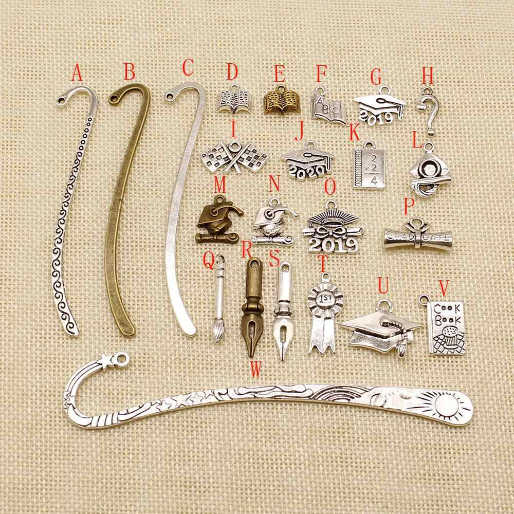 3 Piece metal bronze silver tools charms pendant for jewelry making metal charms mix jewelry findings components