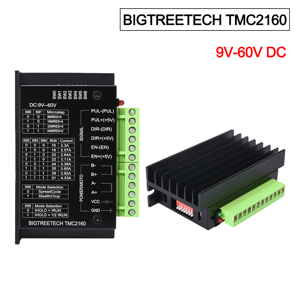 BIGTREETECH TMC2160 High Power Stepper Driver Ultra Quite Fully 3D Printer Parts  Compatible TMC5160 Motion Control For CNC 3D
