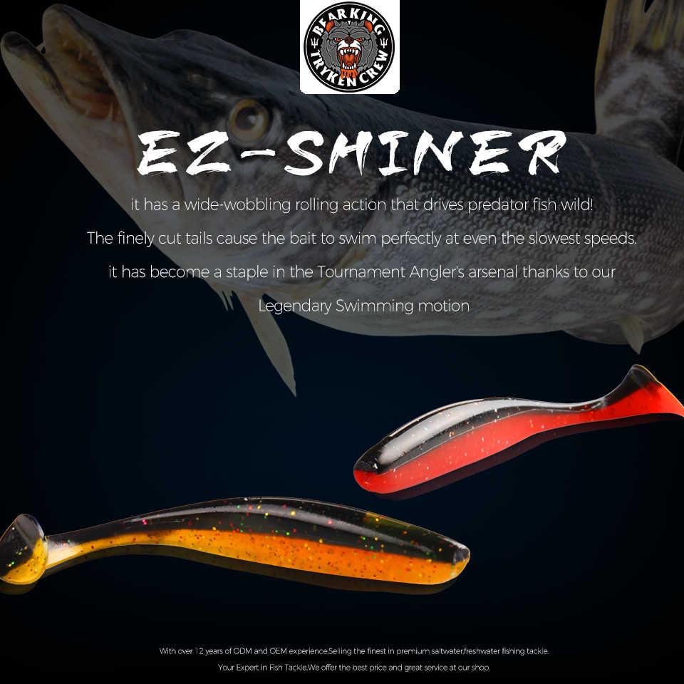 BEARKING Ez Shiner 5 centimetri 7.5 centimetri 10 centimetri Wobblers per Hot Carpa Morbido di Pesca Esche Artificiali In Silicone Doppio Colore esche
