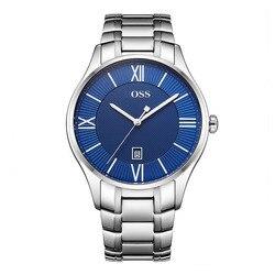 Luxe Merk Hugo GOUVERNEUR Mannen AAA Horloge Gepolijst Roestvrij stalen Horloge met Twee-tier Zwarte Wijzerplaat en Link armband montre homme