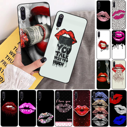 На Алиэкспресс купить чехол для смартфона lipstick mark soft silicone tpu phone cover phone case cover for xiaomi 8 9 se 5x redmi 6pro 6a 4x 7 5plus note 5 7 6pro