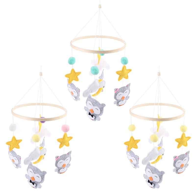 1PC Newborn Baby Toys Cute Cartoon Owl Pendant Wind Chime Infants Toddlerss Car Strollers Bed Hanging Decoration