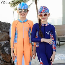 One Piece Swimwear for Children Long Sleeve Diving Clothes for Girls Boys Surf Suits Swimsuit Kids Swimming Bathing Suit Child children s one piece swimsuits girl boys bathing suits one piece suits for children boys beach wear girl swimwear long sleeve