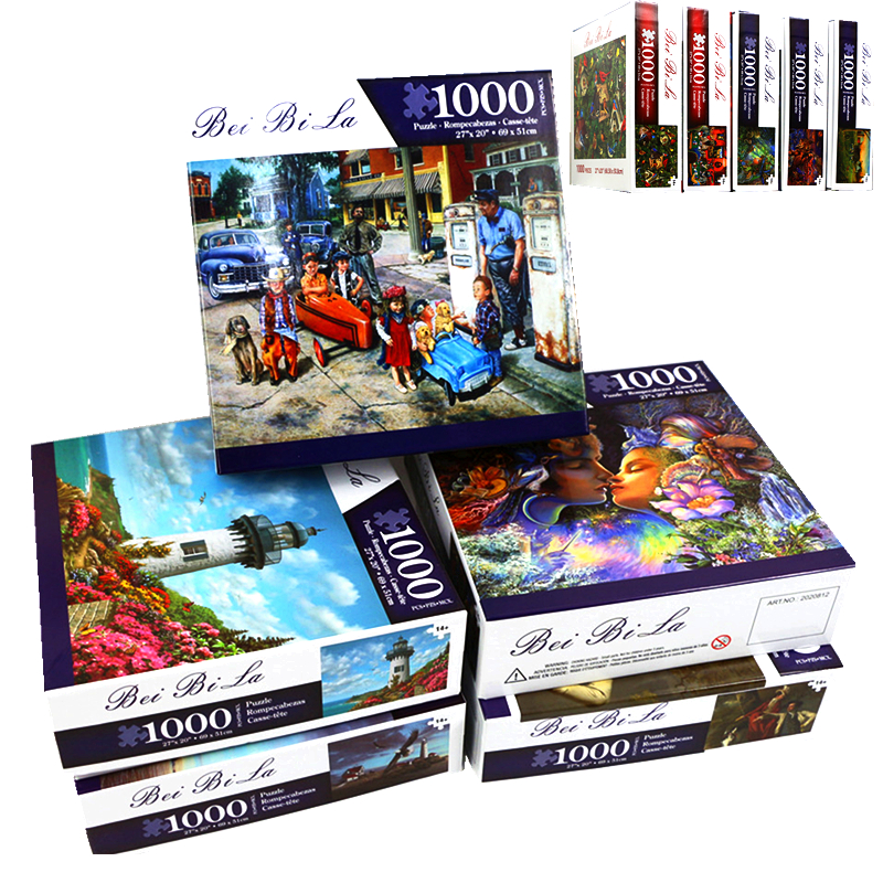 Can Be Customized Puzzles 1000 Pieces Wooden Assembling Picture Puzzles Toys For Adults Children Kids Games Educational Toys