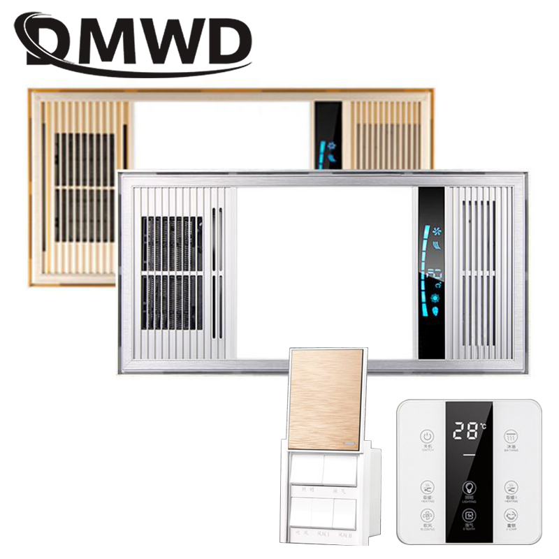DMWD LED Bath Heater Ceiling Light Bathroom Ventilator Exhaust Fan Hot&Cold Wind Rapid Heating Stove Radiator Warmer Extractor