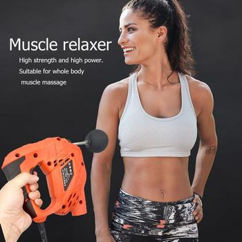 Body Muscle Massage Gun Electric Deep Tissue Muscle Relaxation Fitness Massager Matches 6 Massage Heads 6 Speed Control