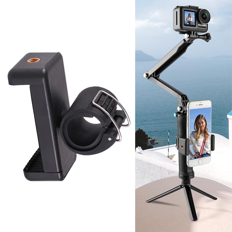 Держатель для крепления телефона на селфи-палка-Монопод-трансформер 3-way для GoPro Hero 8 7 6 5 4 Yi 4K Sjcam Sj8 M10 экшн Камера аксессуар