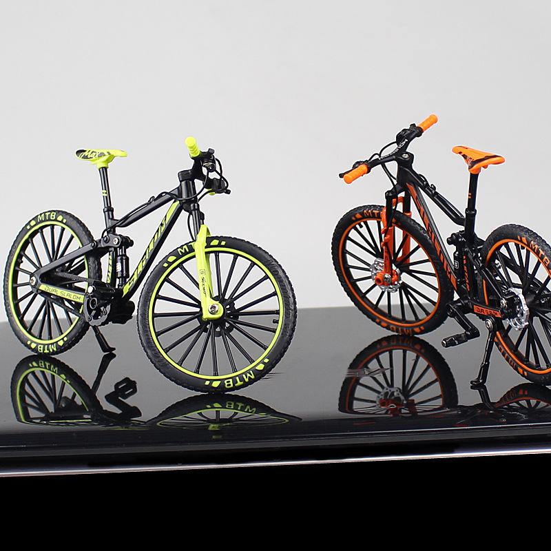 Fashion Cycle Racing Crazy Magic Finger Bike Alloy Bicycle Model 1:10 Bicycle Bend Road Mini Racing Toys For Children