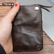 AETOO Multifunctional keys, change storage bags, tanning cowhide Home key pack, simple