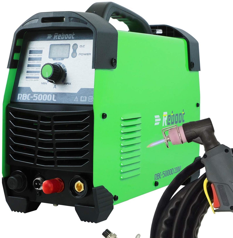 Cortador de plasma corte 50amp piloto arc, sem toque, 110/220v igbt, máquina de corte de ar, dupla volt, hf cortador inversor 1/2