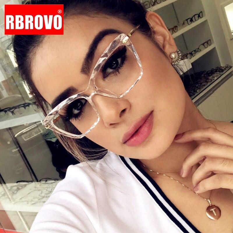 RBROVO 2020 Cat Eye Glasses Frame Women Anti-blue Light Glasses For Women/Men Brand Eyeglasses Women Lentes De Lectura Hombre