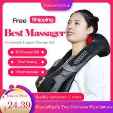 цена на Neck Massager Electric Shiatsu for Back Body Shouder Massage Roller Car Relaxer Massageador  Masajeador Health Care