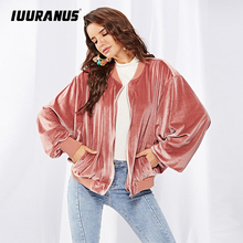 IUURANUS Winter loose jacket Long Sleeve Girl Coat Wholesale Clothing for Women Solid Elegant Fluffy Overcoat Casual