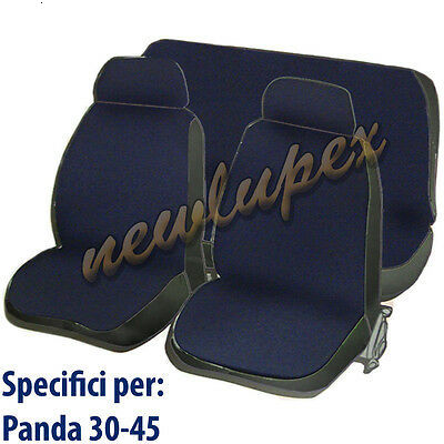 COPRISEDILI FIAT PANDA 30 COPRI SEDILE FODERA IN COTONE BLU SCURO|Sound & Heat Insulation Cotton| |  - title=