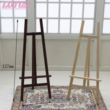 Mini Wooden Decoration Easel Artist Triange Art Easel Wooden Table Card Holder Wedding Exhibition Booth Doll House 1pc