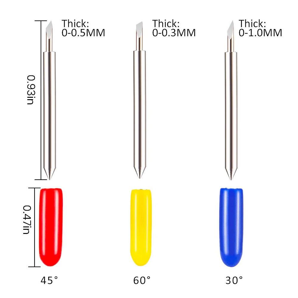 25 шт. 30 45 60 градусов Roland Cricut режущий плоттер виниловый резак лезвия ножей офсетные Cricut станок фреза фрезы Фрезы