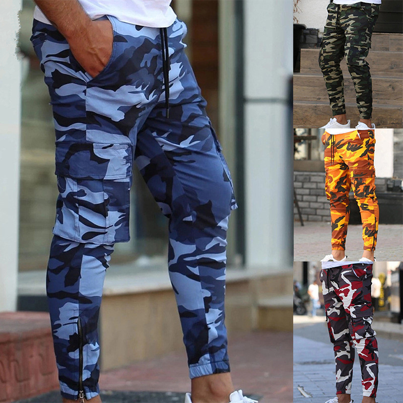 2019 Autumn New Brand Men Hip-hop Pencil Pants Casual Fashion Joggers Pants Male Fitness Trousers Outdoor Camouflage Sweatpants