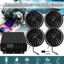 1000W bluetooth Stereo 4 Speaker Motorcycle Audio ATV Music MP3 System AUX FM Radio