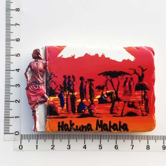3d Resin Magnets Tanzania Africa Cultural Landscape Tourism Fridge Magnet Souvenir Home Decoration Accessories gift ideas 2