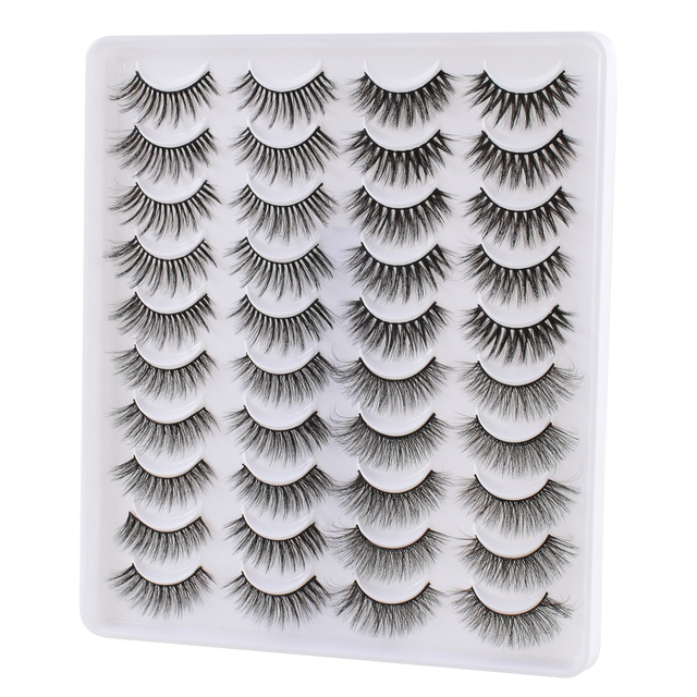 5/10/20Pairs 3D Mink Lashes Natural Mink False Eyelashes Dramatic Volume Fake Eyelash Extension Faux Cils Wholesale Makeup Tools 2