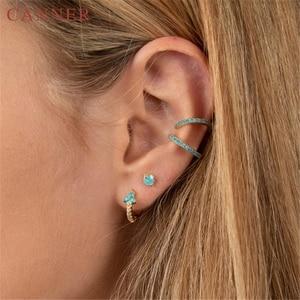 Minimalist 925 Sterling Silver Ear Buckle Bead Small Hoop Earrings for Women Gold Silver Tiny Circle Earrings Fashion jewelry